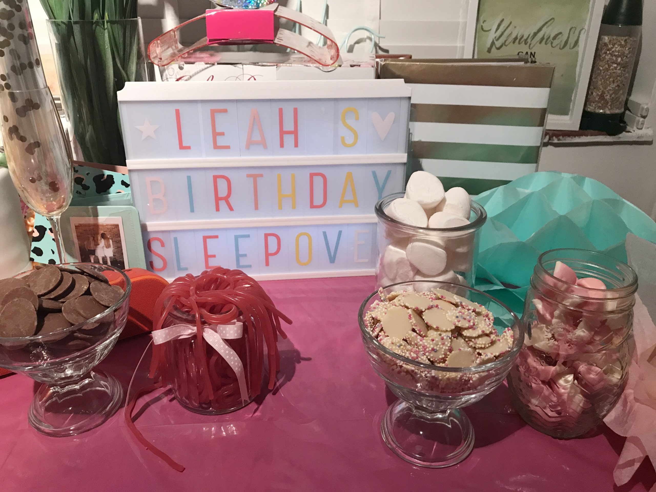 Strawberry Laces, Razzles, Marshmallows, Lightbox, Sleepover Party, Photo Party London